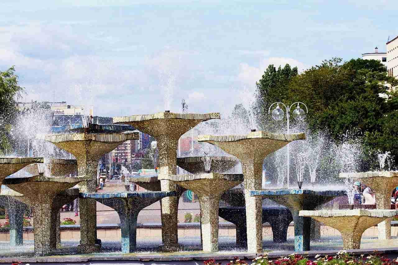fontanna przy skwerze kosciuszki