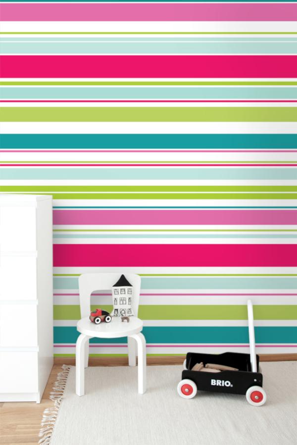 tapeta ścienna w kolorowe paski