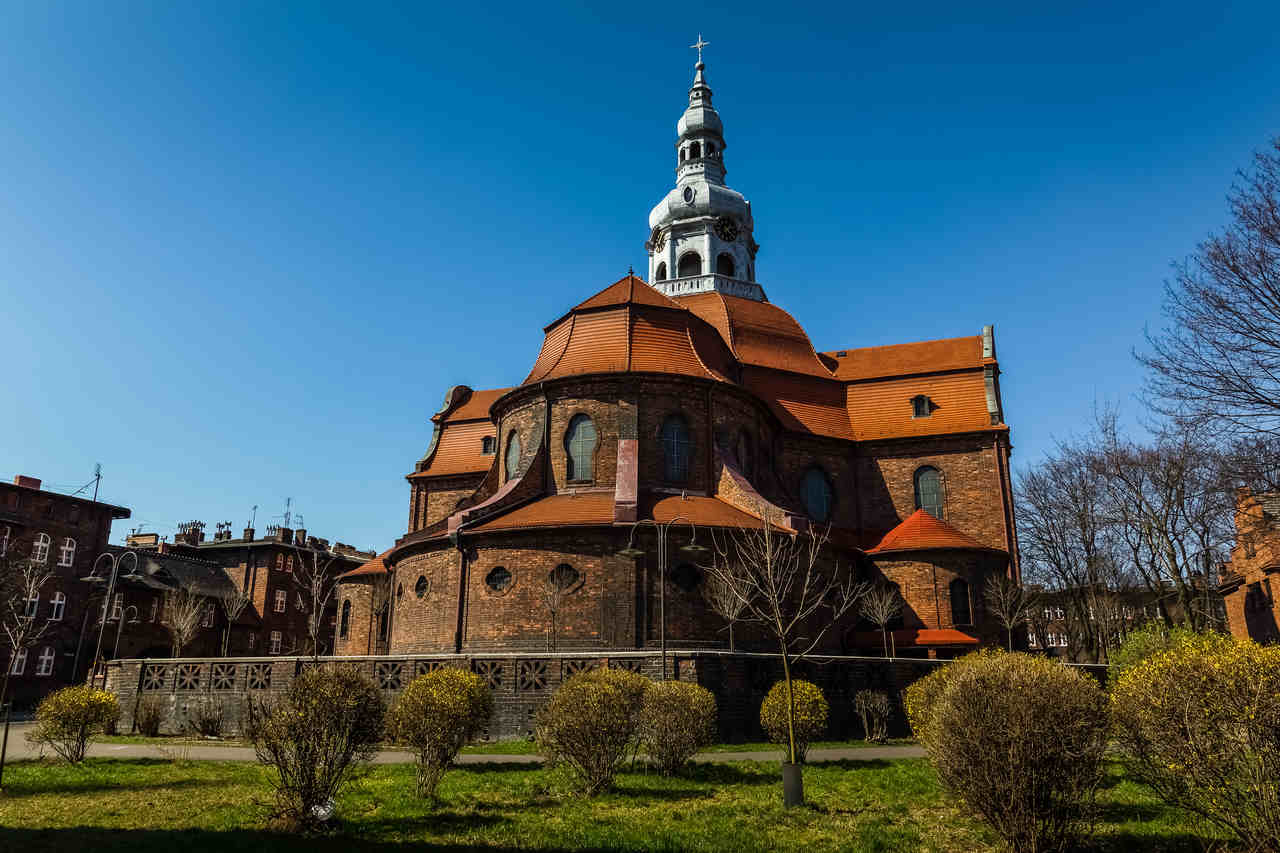 Neobarokowy kościół św. Anny w Nikiszowcu
