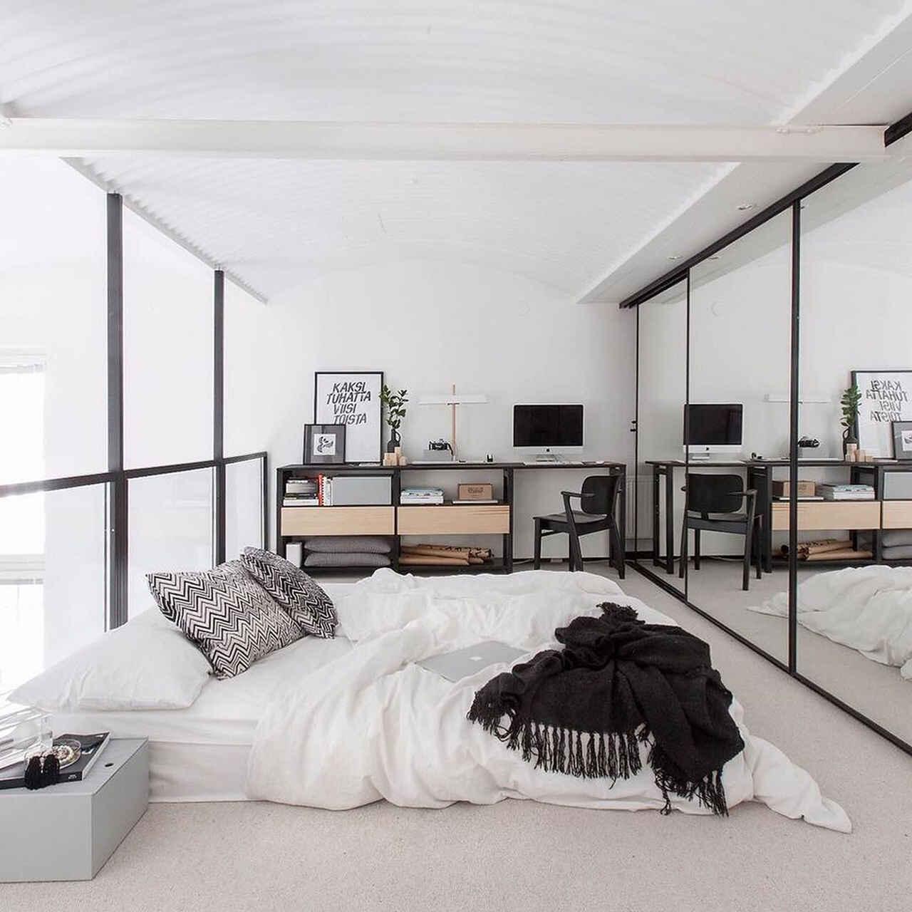 skandynawski styl aranżacji sypialni