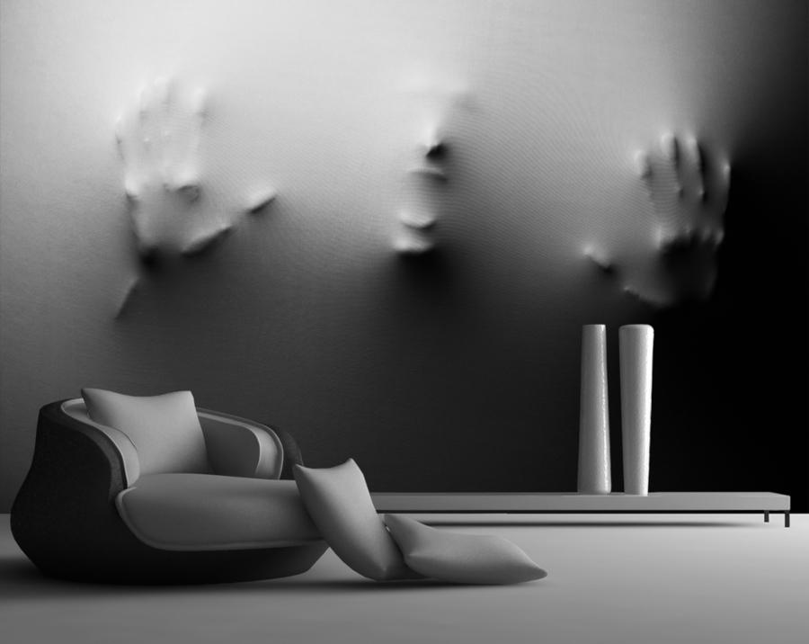 tapeta 3D w nowoczesnym stylu