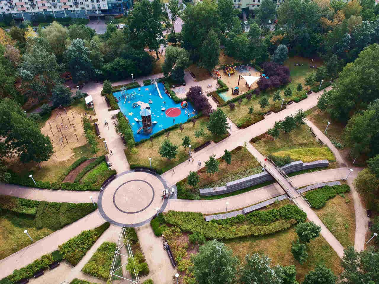 park przy bazantarni na ursynowie